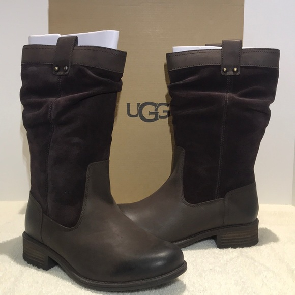 bc1a94d825e UGG Bruckner Boots Tall Slouch Dark Brown 1017487 NWT